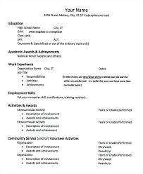 Activity Resume Templates How To List Activities On A Resume High School Activities Resume