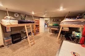 rustic kids bedroom with ceiling fan amp carpet in denver