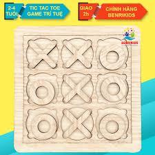 Đồ Chơi Trẻ Em, Game Tic Tac Toe Cờ Caro Phiên Bản Nhí Cho Bé Từ 3-4 Tuổi,  Đồ Chơi Được Làm Bằng Gỗ Tự Nhiên Thuần Mộc Đồ Chơi Giáo Dục