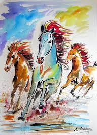 cavalli painting wild horses running by roberto gagliardi