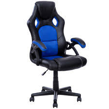 chair desk. pu leather executive bucket seat racing style office chair computer desk task