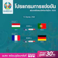 โปรแกรมการแข่งขันฟุตบอลยูโร 2020 (15 มิ.ย. 64) พร้อมลิงก์ดูบอลสด