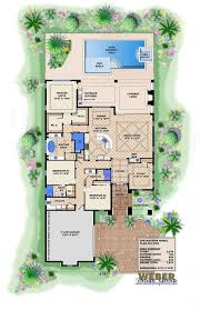 single level house plans. Spanish House Plan: 1 Story Coastal Style Home Floor Plan. Open PlansOne Single Level Plans D