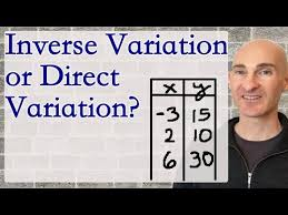 Direct Variation Chart Inverse Variation Or Direct Variation Given A Table Youtube