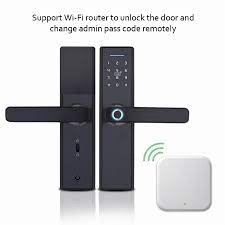 TT kilidi app WiFi akıllı parmak izi kapı kilidi, elektronik dış kapı kilidi,  akıllı Bluetooth dijital