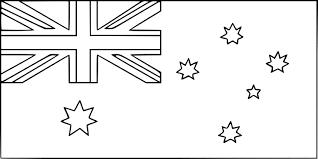 Coloriage Drapeau Australie Imprimer