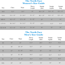 North Face Sizing Chart For Women North Face Shoe Sizing Chart