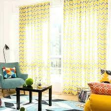 target yellow curtains yellow and gray chevron print linen cotton blend contemporary long curtains for bedroom