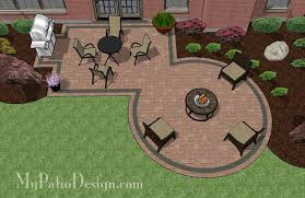 Patio Design Ideas With Fire Pits rectangle patio design with circle fire pit area mypatiodesigncom
