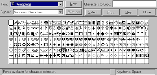 Wingding Alphabet Wingdings Chart Numbers Wingdings Alphabet
