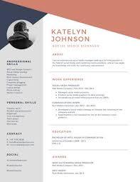 Modern Contemporary Resume Templates As Free Resume Templates