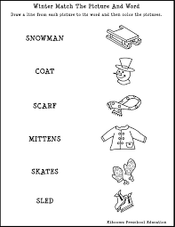 Winter Activities Worksheet Worksheets for all | Download and ...