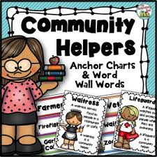 Community Helpers Chart Community Helpers Anchor Charts And Word Wall Cards