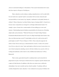 senior project essay      critical to emotional intelligence quot