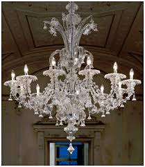 hand crafted clear murano glass lighting artwork traditional venetian murano glass chandelier with 12 light