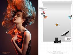 shooting with color gels photography lighting setupstudio