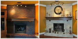 before and after spring fireplace painting