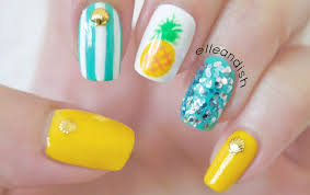 Easy Summer Nail Designs Easy Summer Pineapple Nails Such A Cute Look Nails