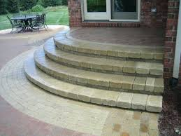 paver patio steps patio steps these after pictures of the brick patio steps porch steps diy