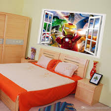 Lego Bedroom Wallpaper 3d Window View The Lego Avengers Wall Art Decal Sticker Kids Boys
