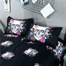 sugar skull comforter skull bed set king skull bedding set twin queen king size 2 3 sugar skull comforter
