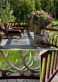 outdoor deck railings ideas. antler deck railing outdoor railings ideas o