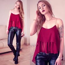 leather pants outfit ideas style 10 for a simple night out