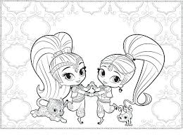 Shimmer And Shine Printable Coloring Pages Easter Gallery Fun For Kids