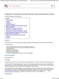 Creating RTF Templates by Using BI Publisher 11g Template Builder for Word  | Xslt | Microsoft Word