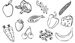 Healthy Foods Coloring Pages Betterfor