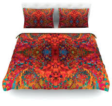 nikposium red sea orange abstract cotton duvet cover twin 68x88solid full sets uk