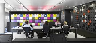 Breathtaking, Creative And Colorful BBC North Office : Breathtaking Formal  Meeting Room With Black Furniture