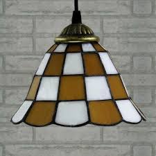 ... White Finished Yellow Pattern 24 Inch Kitchen Pendant Lighting In  Tiffany Stained Glass Style