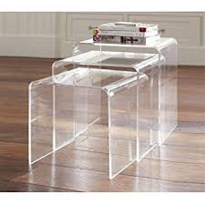 clear plastic side table