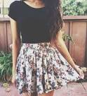 High waisted skirts outfits tumblr 2017