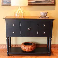 decor therapy taylor black 4 drawer console table