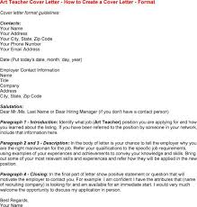 how to write a cover letter for an art teaching position art teacher cover letter examples