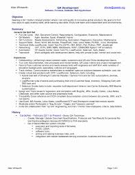 Entry Level Resume Samples Lovely Entry Level Qa Tester Resumes