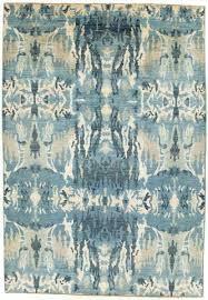 blue ikat rug 6 x blue and tan rug blue ikat area rug blue ikat wool rug
