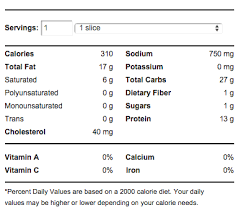 pizza hut meat lover s pizza calories nutrition info