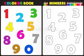 coloring book numbers stock vector ilration of artwork 39008133