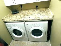 dryer shelf counter over washer and storage