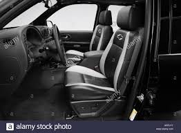 2007 Chevrolet TrailBlazer SS in Black - Front seats Stock Photo ...