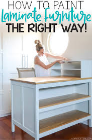 how to paint laminate furniture the