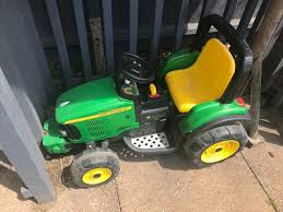 john deere battery operated tractor with trailer