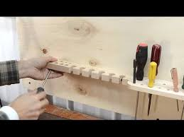 making wall tool holders you