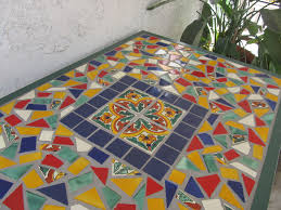 mexican tile topped table for we love the colorsl home design talavera tiles colors floor
