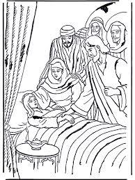 Dochtertje Van Jaïrus 1 Bijbel Kleurplaten Nieuwe Testament