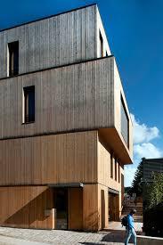 wooden office buildings. Steinmetzdemeyer Stacks Wooden Blocks To Form Low-energy Office Building Buildings