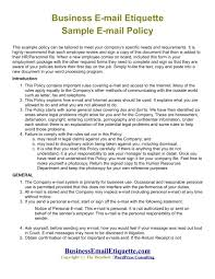 business policy example 14 employee email policy examples pdf examples